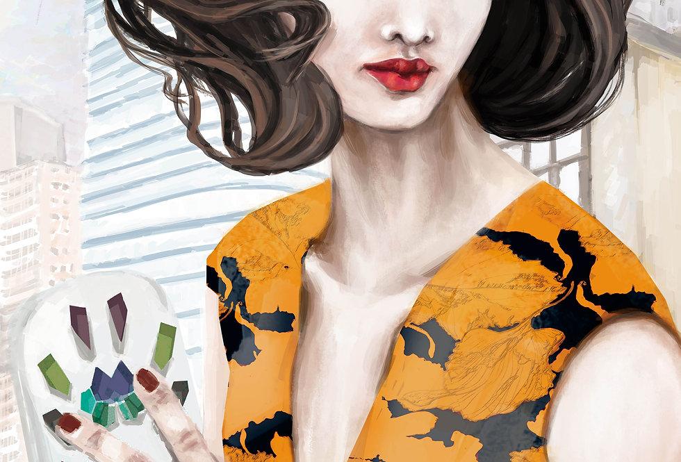 Lámina Ilustrada Edición Limitada 'Strass y Prints Florales'