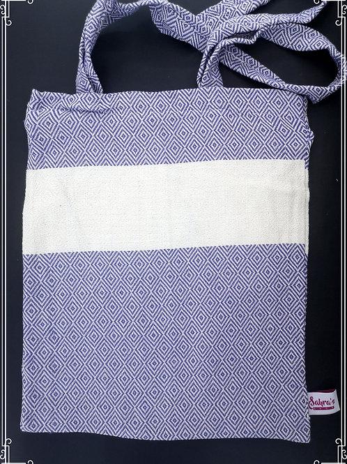 Timantti R. Valko puuvillaa kassi violetti