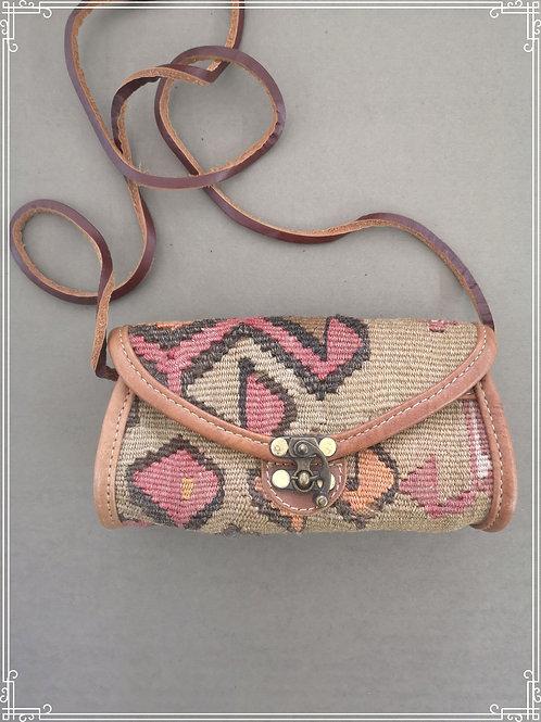 Vintage kelim laukku 13x20cm