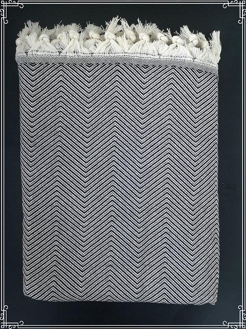 Zigzag peitto 200x240cm musta