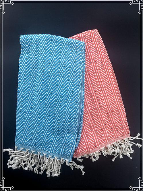 Zigzag hamam-pyyhe 100x190cm