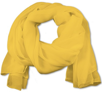 Women's Yellow Chiffon Scarf