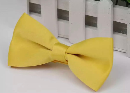 SOLID GOLDEN YELLOW ADULT PRE-TIED BOW TIE