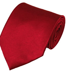 MEN'S X-LONG TIE SOLID CRIMSON RED