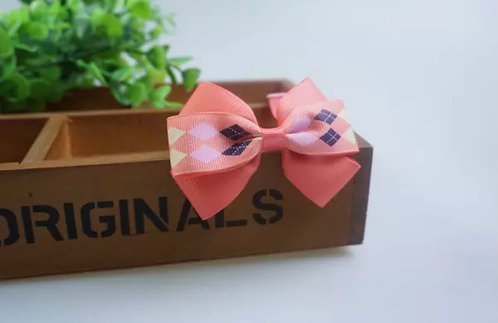 Dog/Cat Pink, Blue and Beige Bow Tie