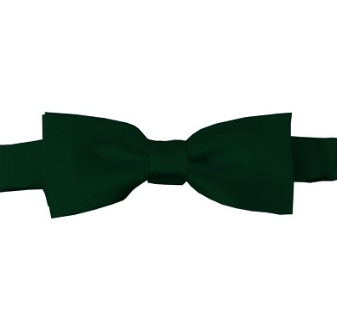KIDS SOLID FOREST GREEN PRE-TIED BOW TIE