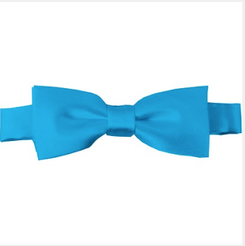 KIDS SOLID TURQUOISE PRE-TIED BOW TIE