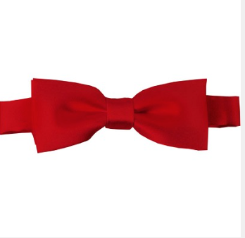 KIDS SOLID RED PRE-TIED BOW TIE