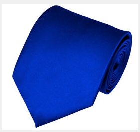 SOLID ROYAL BLUE TRADITIONAL MEN'S NECKTIE