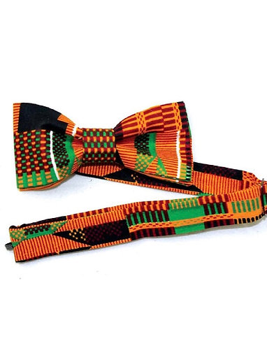 KENTE/AFRICAN PRINT PRE-TIED BOW TIE FOR ADULTS
