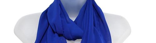 Women's Blue Chiffon Scarf