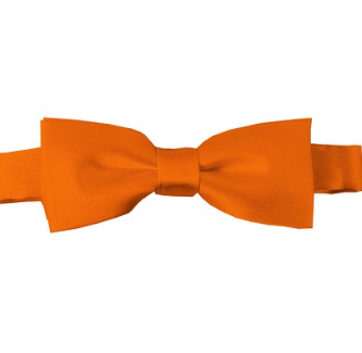 KIDS SOLID ORANGE PRE-TIED BOW TIE