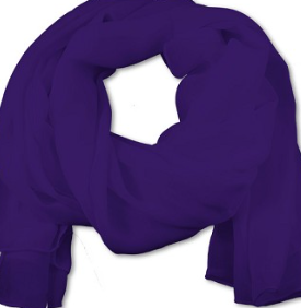 Women's Purple Chiffon Scarf