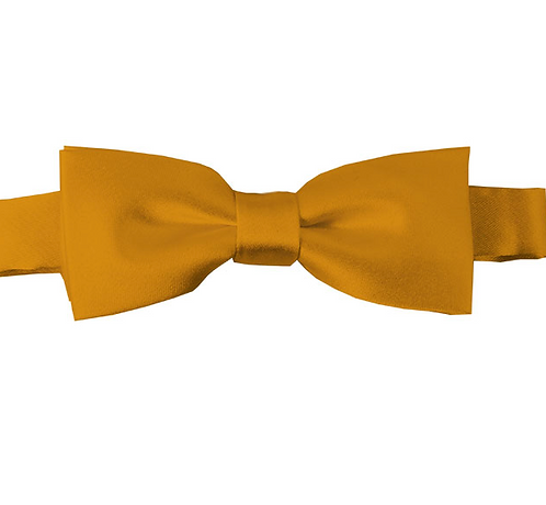KIDS SOLID GOLD BAR PRE-TIED BOW TIE