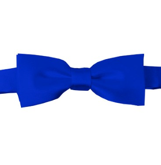 KIDS SOLID ROYAL BLUE PRE-TIED BOW TIE