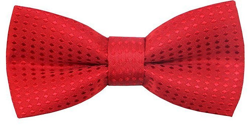 KIDS RED ON RED POLKA DOT PRE-TIED BOW TIE
