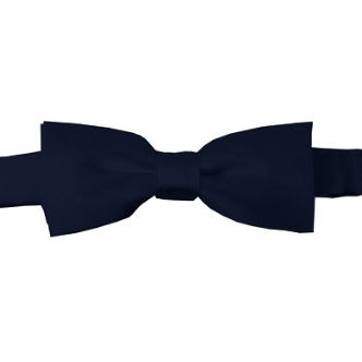KIDS SOLID NAVY BLUE PRE-TIED BOW TIE