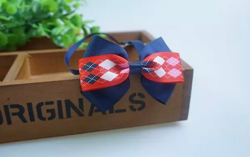 Dog/Cat Blue, Red and White Bow Tie