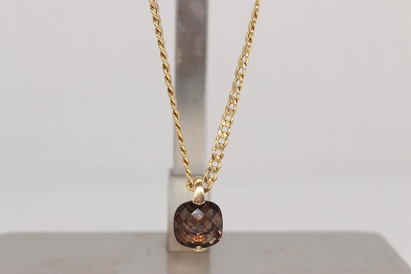 9ct chain & Smokey quartz pendant