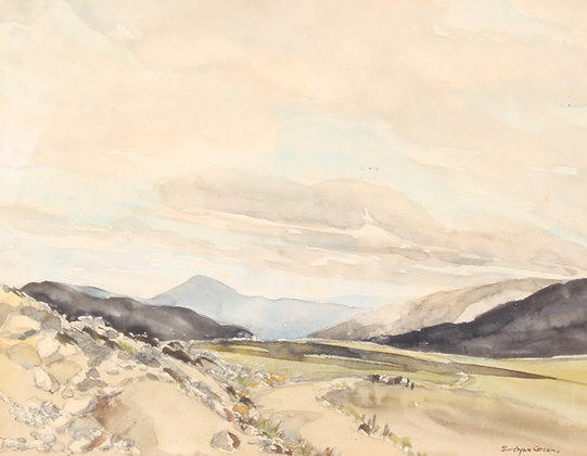 'Evelyne Green' 20th century watercolour of Scottish landscape