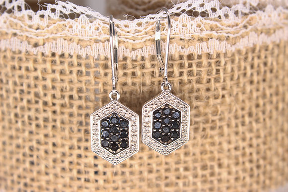 A pair of 9ct diamond chip earrings, weighing 4.2g