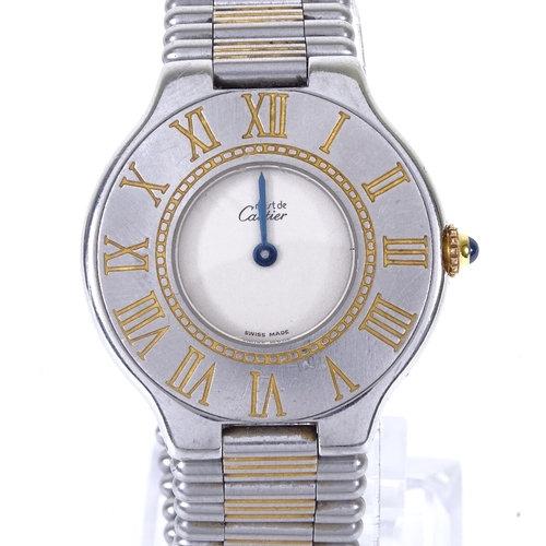 A lady's stainless steel Must De Cartier quartz wristwatch
