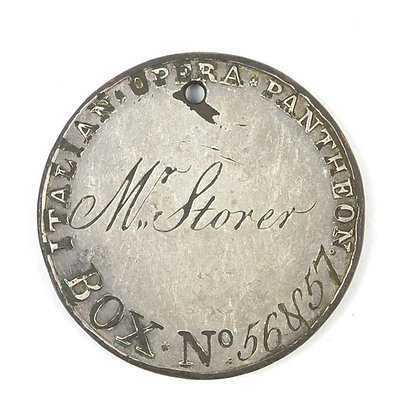 A 18th century Pantheon Italian opera token