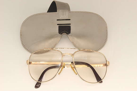 Dunhill gold plated glasses with case