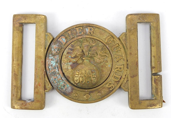 Military interest Grenadier Guards two piece buckle, 9cm wide