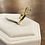 Thumbnail: A 9ct gold ring, size J, weighing 1.8g