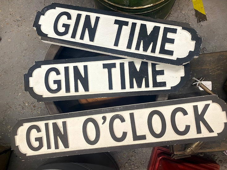 'GIN' signs