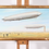 Thumbnail: A 20th century oil on canvas depicting a pair of Zeppelins
