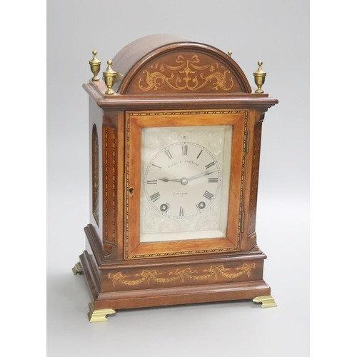An inlaid mahogany eight day bracket clock