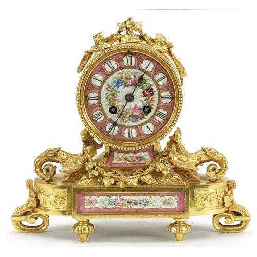 Jean Baptiste Delettrez, 19th century French Ormolu mantle clock