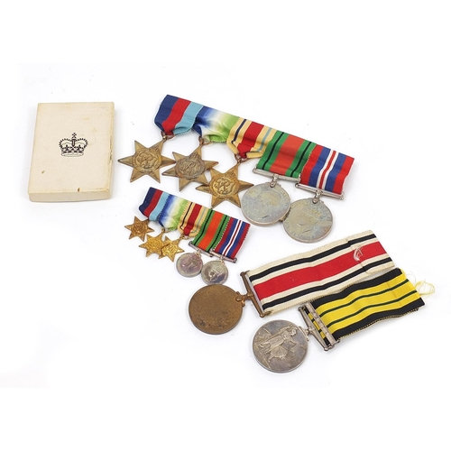 British military World War II medals