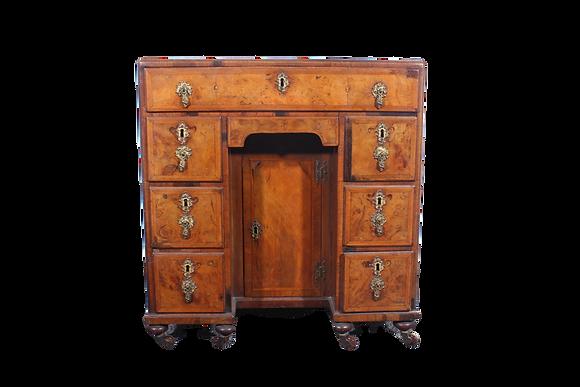 Queen Anne style kneehole desk