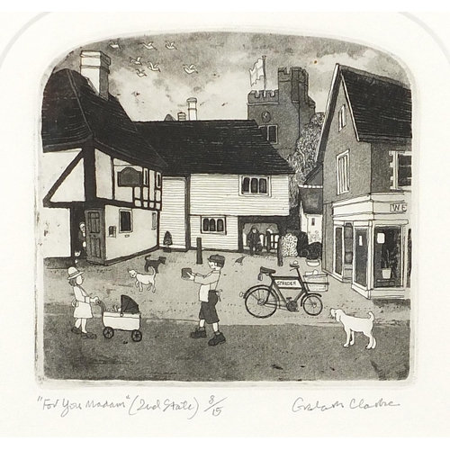 Graham Clarke - For you Madame, (Second state) pencil signed etching