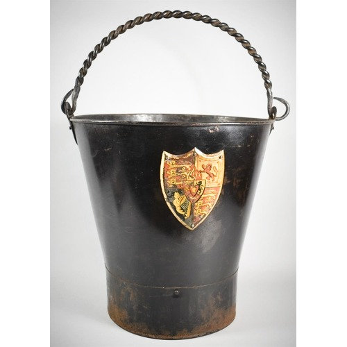 An Early 19th Century Metal Fire Bucket with Royal Arms