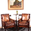 Thumbnail: Pair of double caned Bergere mahogany library chairs