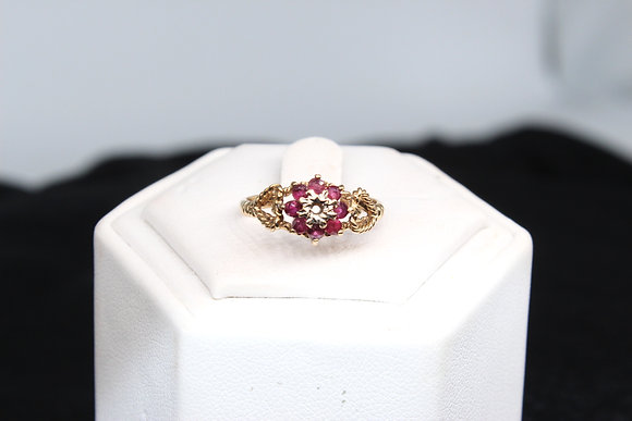 A 9ct gold ring, size K, weighing 1.8g