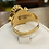 Thumbnail: A 18ct handmade gold ring, size S, weighing 8.1g