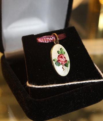 Norwegian enamel pendant