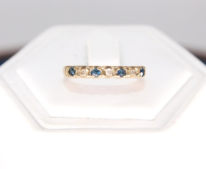 A 9ct gold & diamond ring, size N, weighing 1.2g