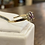Thumbnail: A 9ct gold, diamond & ruby ring, size P, weighing 1.4g