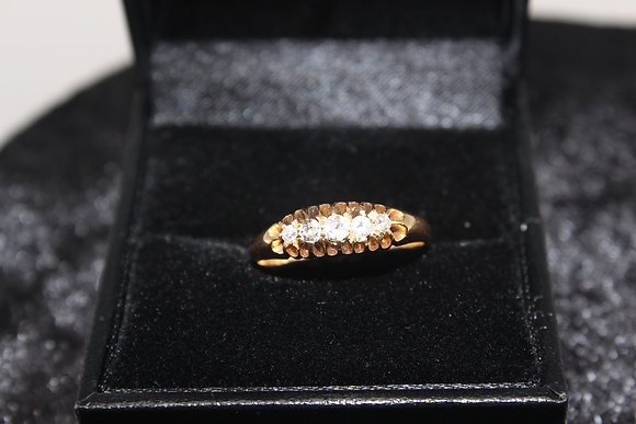 A 18ct diamond ring, size L, weighing 2.5g