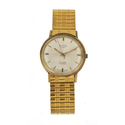 Rotary, gentlemen's 9ct manual wristwatch