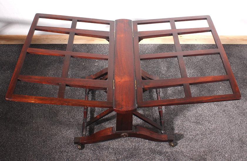 Rare rosewood folio stand