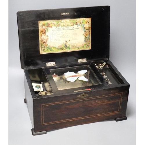 A late 19th century Swiss eight air music box