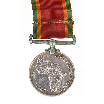 British military Africa Service medal awarded to N51526P.LETSOALO