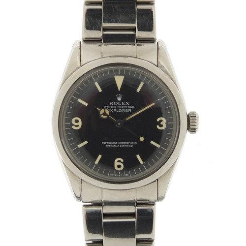 Rolex Explorer, gentlemen's Oyster Perpetual Superlative chronometer wristwatch